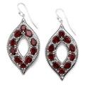 Pendants d'oreilles en argent Sterling ornés de gemmes en marquise d'Himalayan Gems