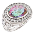 Sincerely Yours, Karen Sterling Silver Mystic Quartz & Multi-Gemstone Ring