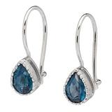 Sincerely Yours, Karen Sterling Silver Gemstone Earrings