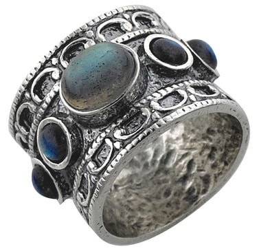 M.A.D.E. Jewellery Sterling Silver Labradorite Ring