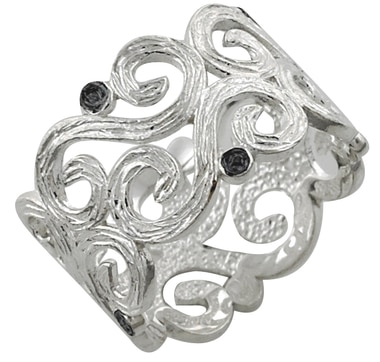 M.A.D.E. Jewellery Sterling Silver Swirl Design Ring