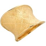 Bague en forme de selle de cheval texturée en argent sterling plaqué or 18 ct