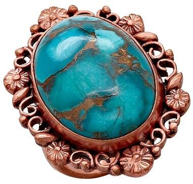 Himalayan Gems Gemstone Copper Ring