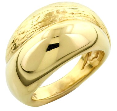 Artformed Oro Puro Sterling Silver 18K Gold Plate Ring