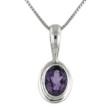Pendentif Himalayan Gems en argent sterling orné d'une gemme, avec chaîne