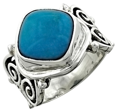 Himalayan Gems Turquoise Sterling Silver Ring