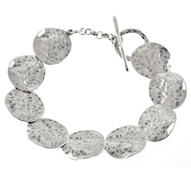 Bracelet M.A.D.E. à cercles en argent sterling au fini martelé