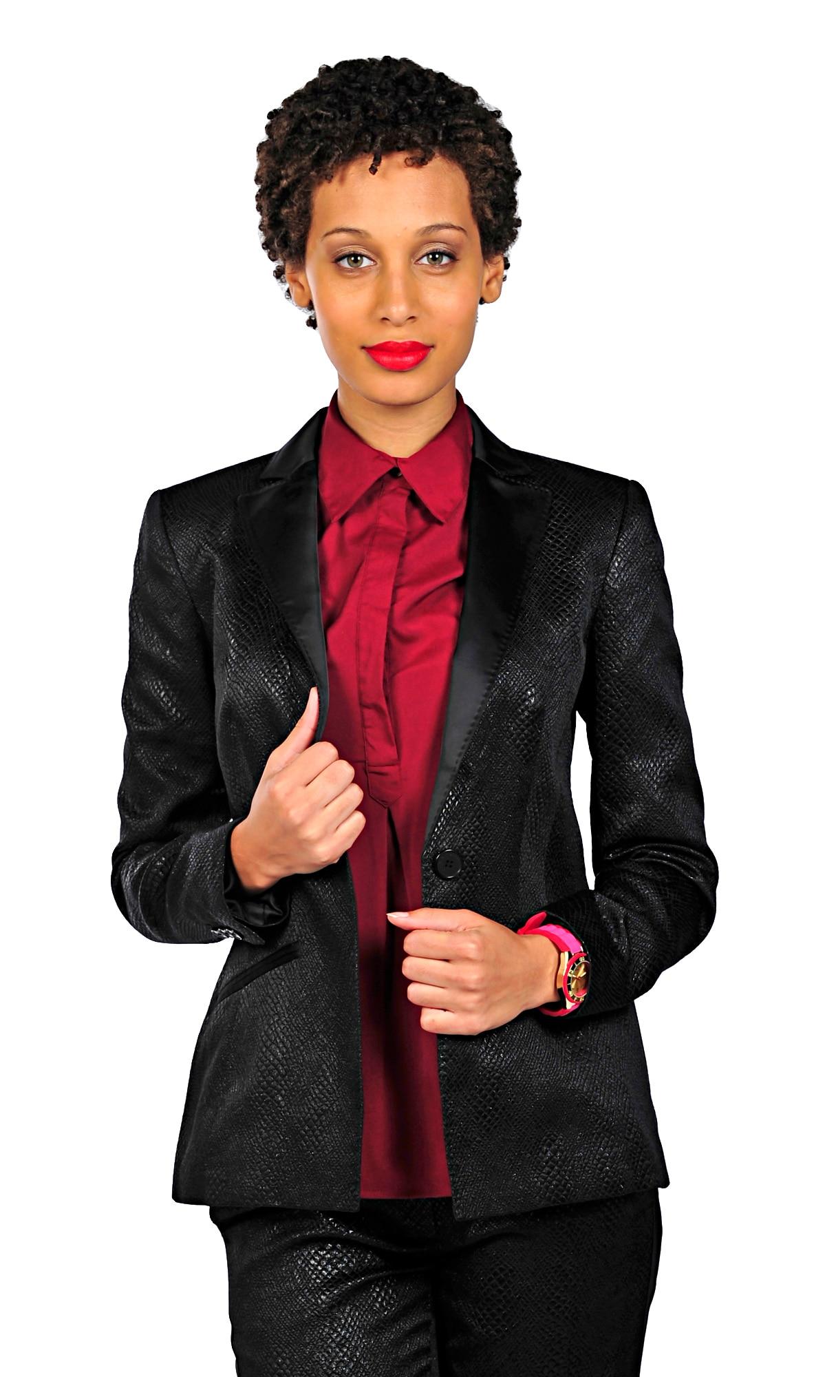 Isaac Mizrahi Live! Textured Tuxedo Jacket