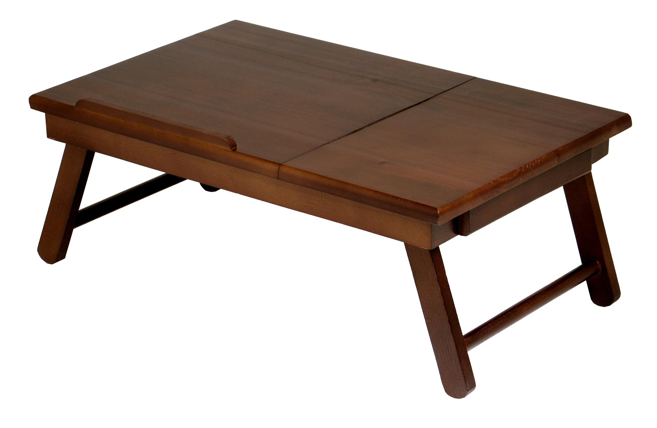 Alden Lap Desk - Flip Top with Drawer & Foldable Legs