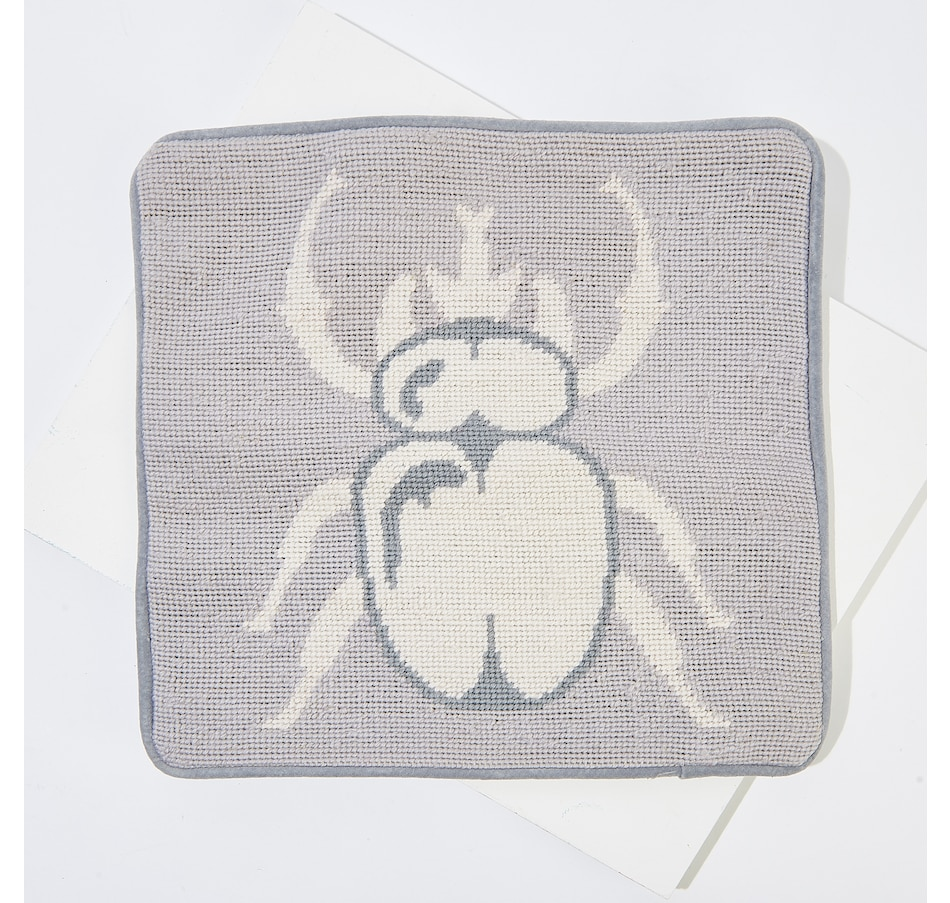Image 136864.jpg , Product 136-864 / Price $49.99 , India Hicks Jonathan Adler Needlepoint Pillow (Small) from India Hicks on TSC.ca's Home & Garden department