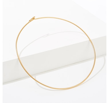 India Hicks Single O Choker - Light Ox Gold