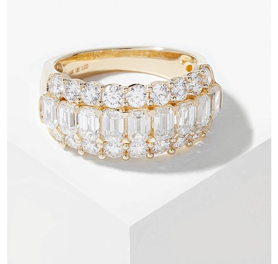 Image 206510_YGL.jpg , Product 206-510 / Price $2,899.99 , EVERA Diamonds 14K Gold 3.01ctw Emerald Cut & Round Diamond Ring from Evera Diamonds on TSC.ca's Jewellery department