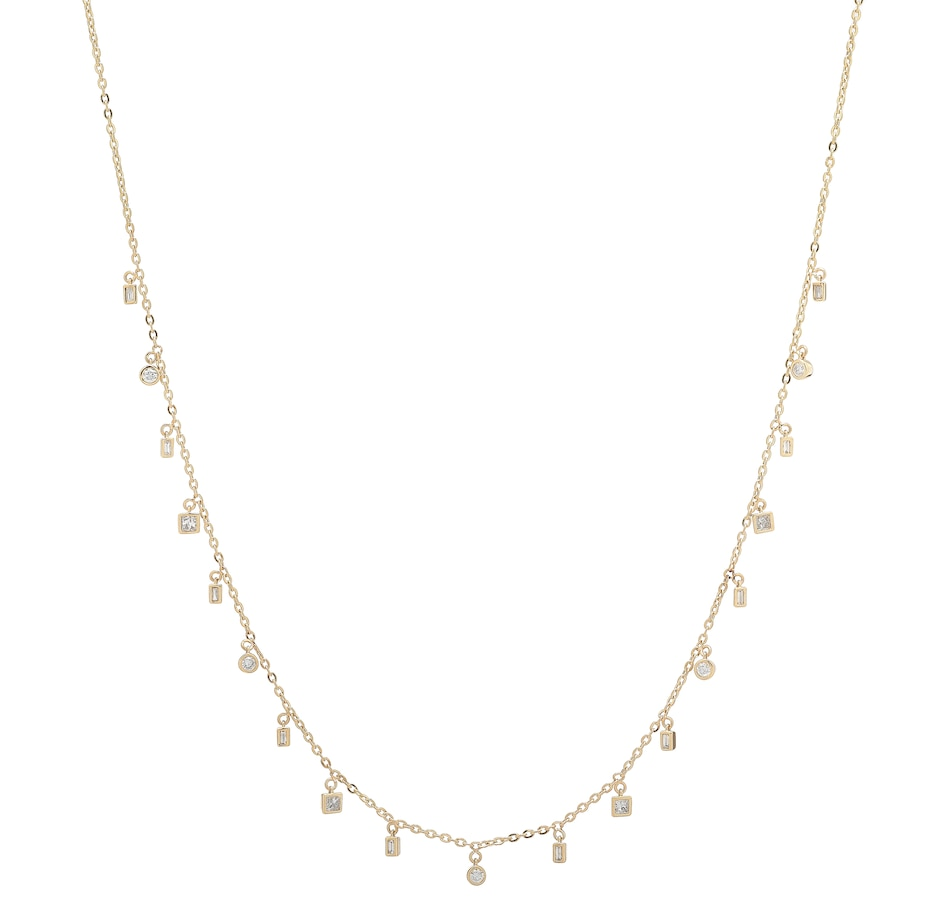 Image 206826_YGL.jpg , Product 206-826 / Price $1,749.99 , 14K Gold 1.00ctw Diamond Dangle Necklace from Diamond Show on TSC.ca's Jewellery department