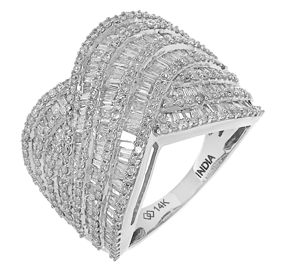 Image 206828_WGL.jpg , Product 206-828 / Price $2,079.99 , 14K Gold 2.21ctw Crossover Diamond Ring from Diamond Show on TSC.ca's Jewellery department