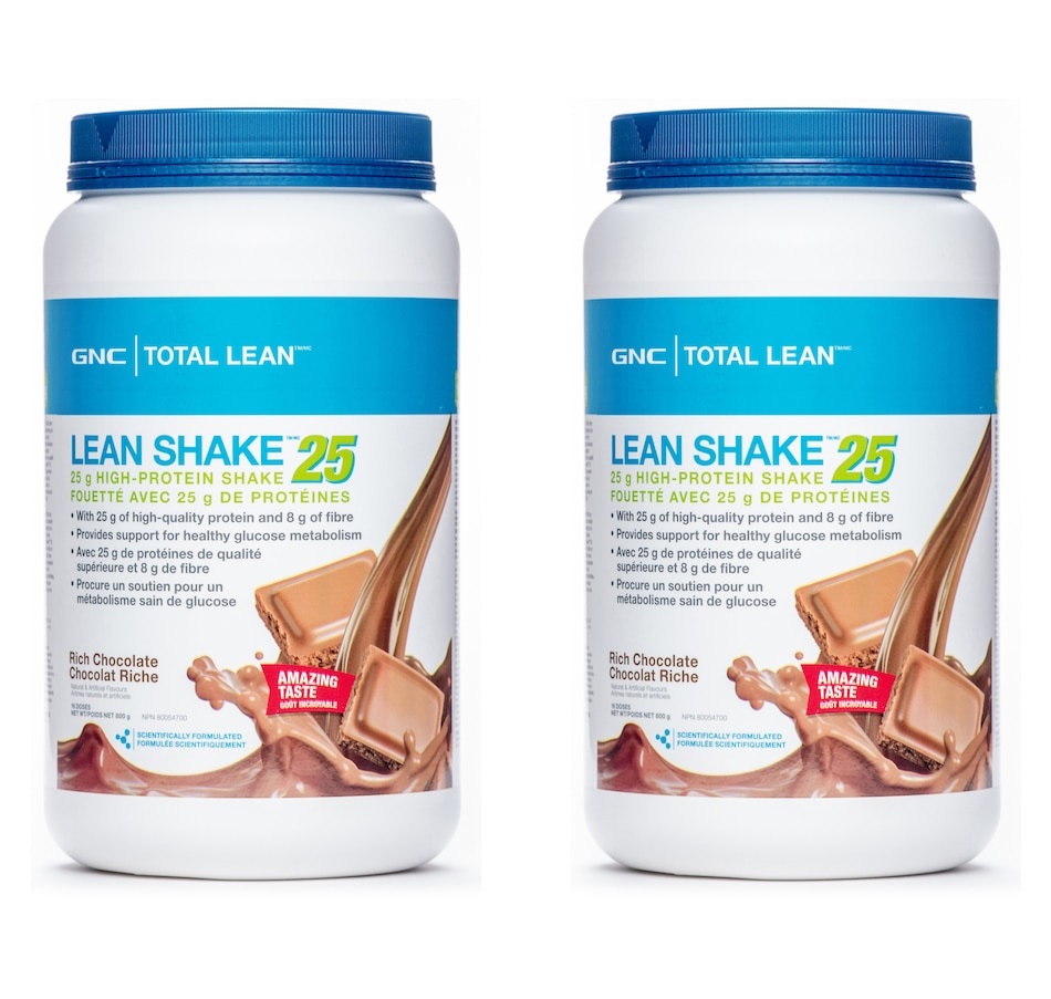 Image 207163.jpg , Product 207-163 / Price $76.99 , GNC Total Lean - Lean Shake Twin Pack in Rich Chocolate - 30-Day Auto Delivery from GNC on TSC.ca's Health & Fitness department