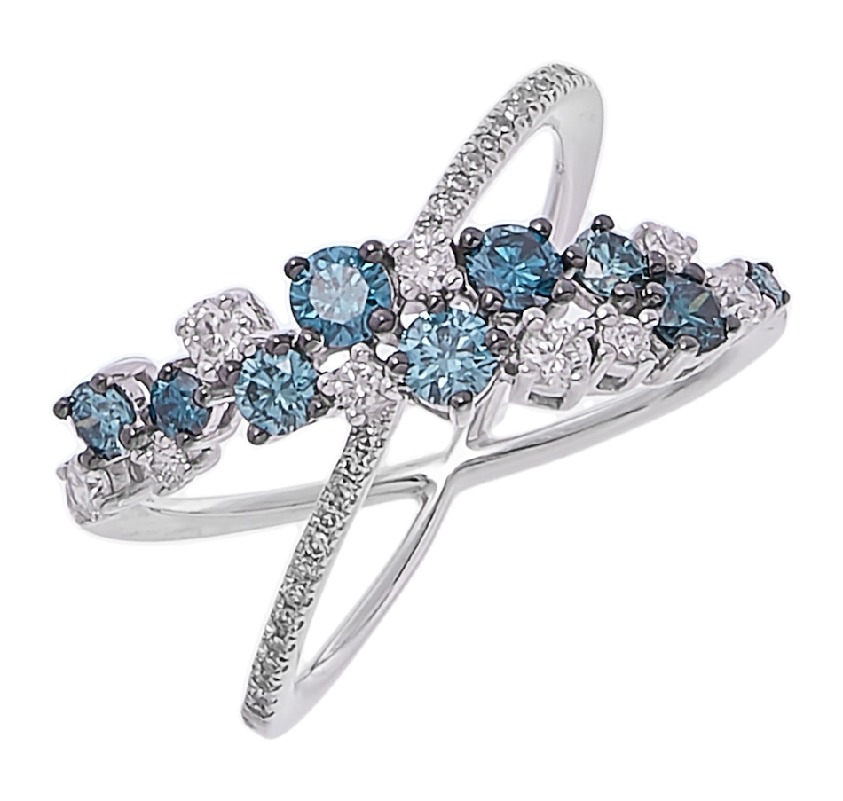 Image 207885.jpg , Product 207-885 / Price $2,599.99 , 14K White Gold White & Blue Diamond Ring from The Vault on TSC.ca's Jewellery department