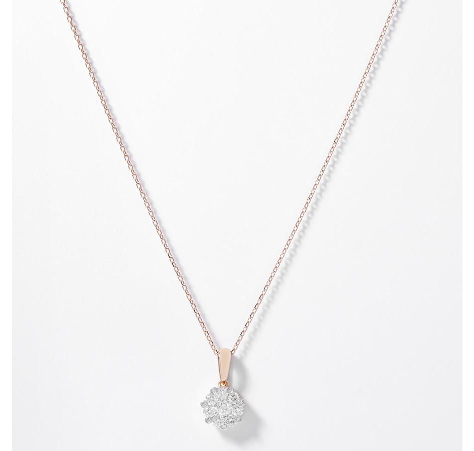 Image 207900.jpg , Product 207-900 / Price $799.99 , EVERA Diamonds 14K Rose Gold 0.52ctw Diamond Flower Pendant with Chain from Evera Diamonds on TSC.ca's Jewellery department