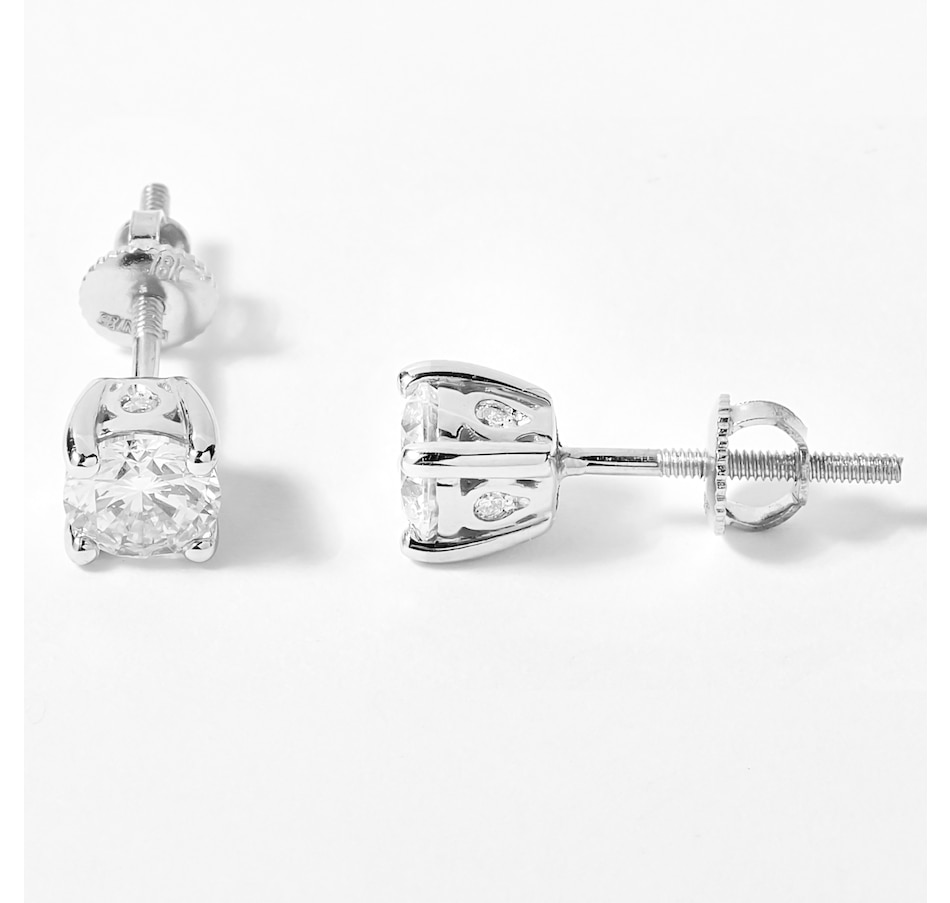 Image 207920_WG102.jpg , Product 207-920 / Price $999.99 - $4,599.99 , EVERA Diamonds 18K Gold Round Diamond Stud Earrings from Evera Diamonds on TSC.ca's Jewellery department