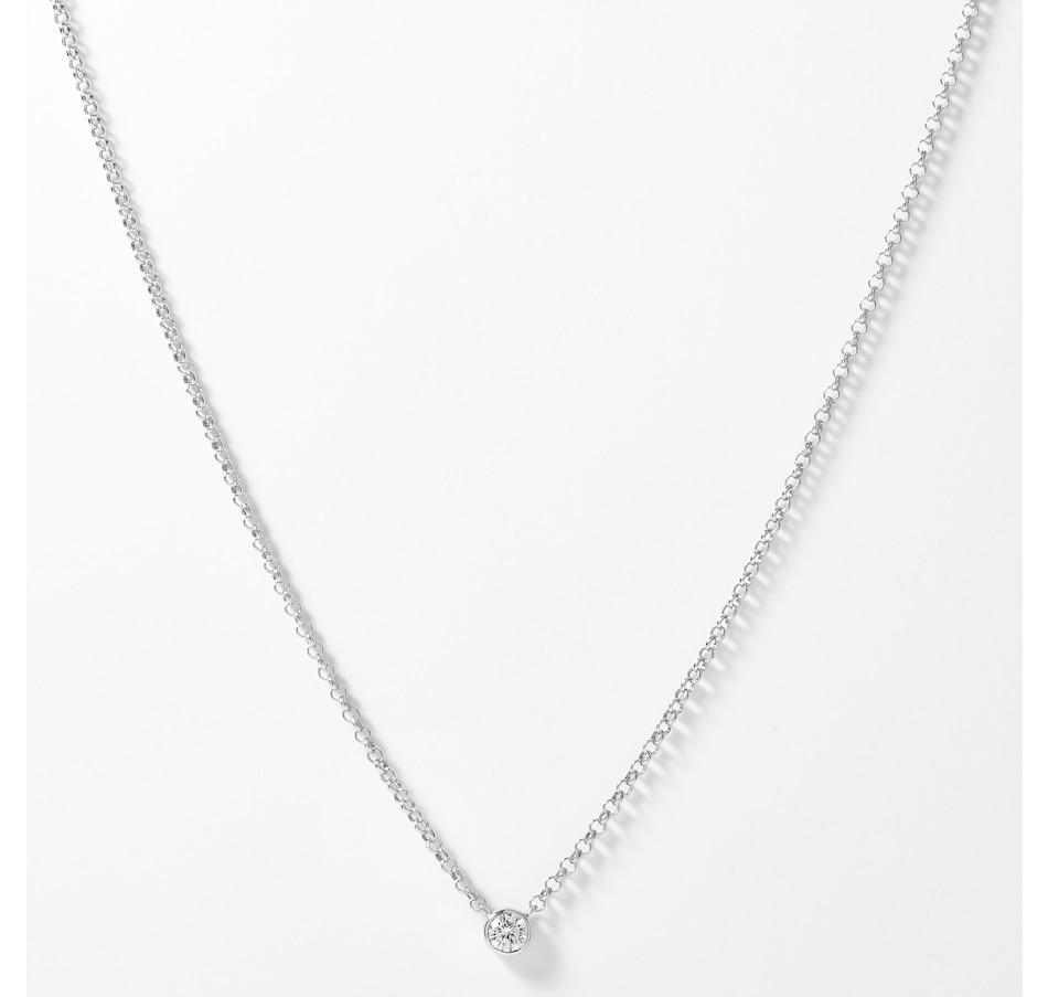 Image 207927_WGL.jpg , Product 207-927 / Price $629.99 , EVERA Diamonds 14K Gold 0.27ctw Bezel Set Diamond Necklace from Evera Diamonds on TSC.ca's Jewellery department