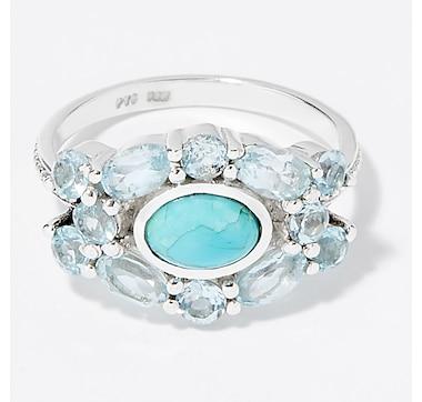 Himalayan Gems Sterling Silver Gemstone Ring