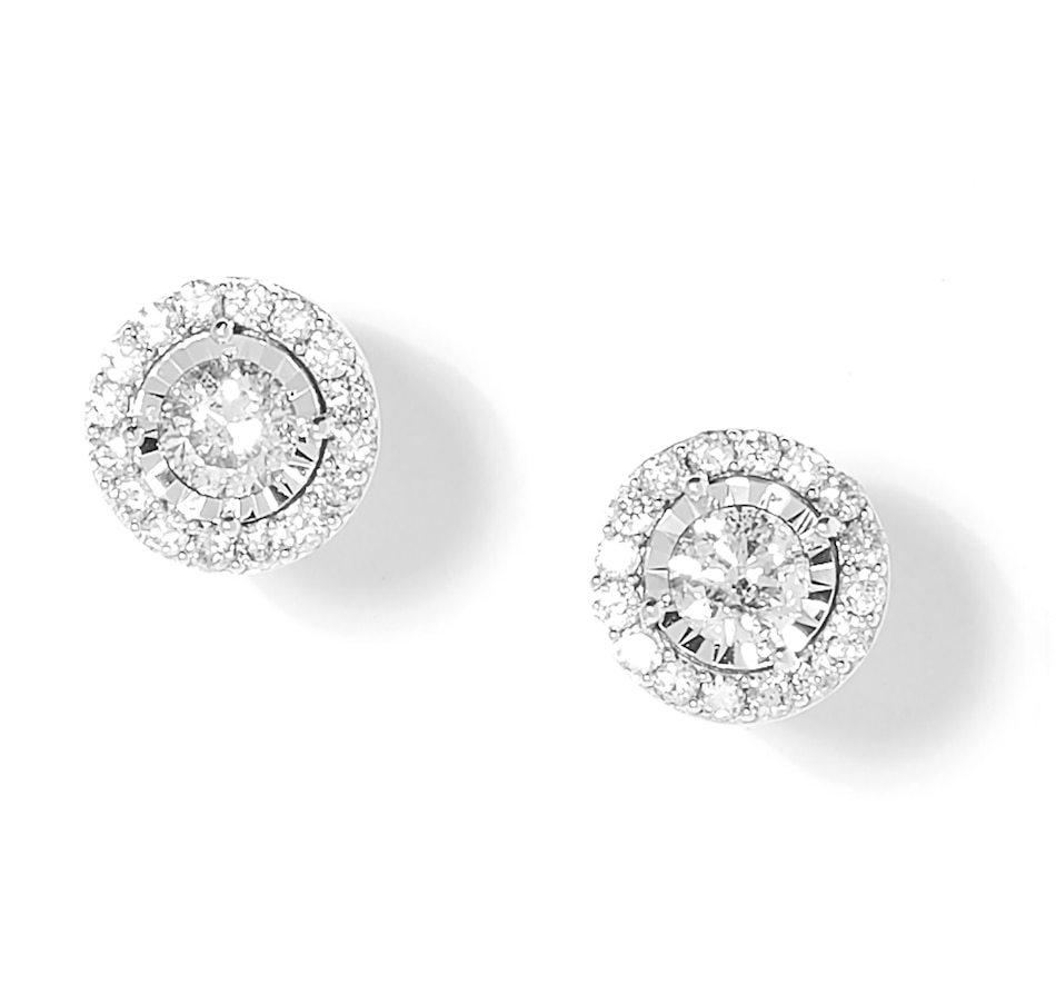 Image 208993.jpg , Product 208-993 / Price $999.99 , 10K White Gold 1.00ctw Diamond Halo Stud Earrings from The Vault on TSC.ca's Jewellery department