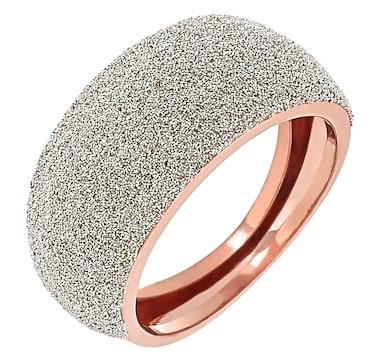 Stefano Oro 14K Gold Diamond Dust Domed Ring