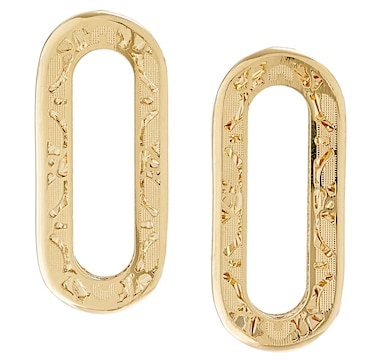 Stefano Oro 14K Yellow Gold Ricami Paperclip Earrings