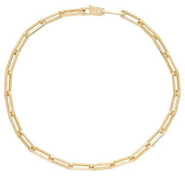 Stefano Oro 14K Yellow Gold Ricami Paperclip Necklace