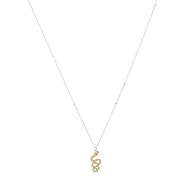 Stefano Oro 14K Yellow Gold Mirror Snake Necklace