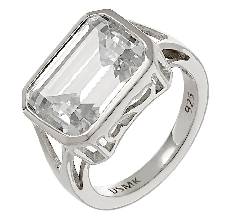 Image 218405_PTT.jpg , Product 218-405 / Price $79.99 , Deborah Freund Designs Sterling Silver Emerald Cut Cubic Zirconia Ring from Deborah Freund Designs on TSC.ca's Jewellery department