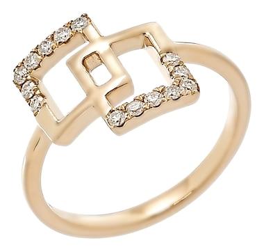 LUXLE Jewellery 14K Yellow Gold 0.20ctw Diamond Ring