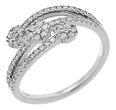 LUXLE Jewellery 14K Gold 0.41ctw Diamond Bypass Ring