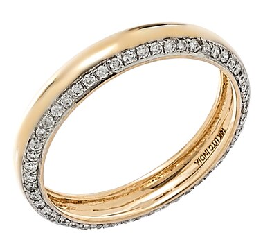 LUXLE Jewellery 14K Yellow Gold 0.25ctw Diamond Band