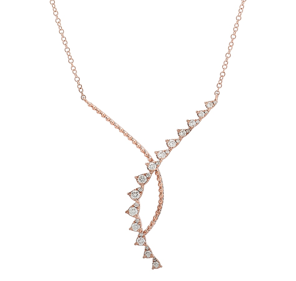 Image 218694_RGL.jpg , Product 218-694 / Price $1,329.99 , LUXLE Jewellery 14K Gold 0.40ctw Diamond Drop Necklace from LUXLE Jewellery on TSC.ca's Jewellery department
