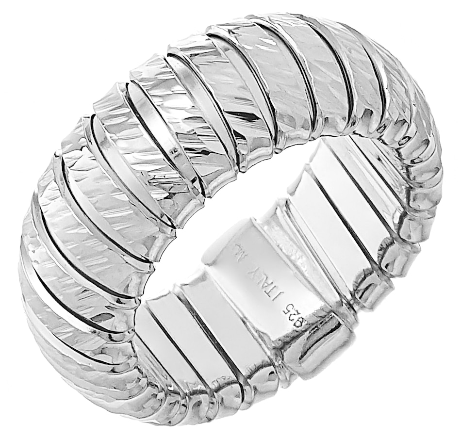 Image 218707_SIL.jpg , Product 218-707 / Price $89.99 , Silver Gallery Sterling Silver Diamond Cut Tubogas Ring from Silver Gallery on TSC.ca's Jewellery department