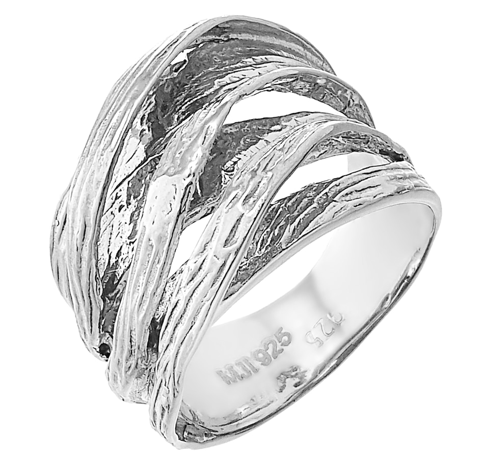 Image 218722_SIL.jpg , Product 218-722 / Price $99.99 , Silver Gallery Sterling Silver Textured Wave Ring from Silver Gallery on TSC.ca's Jewellery department