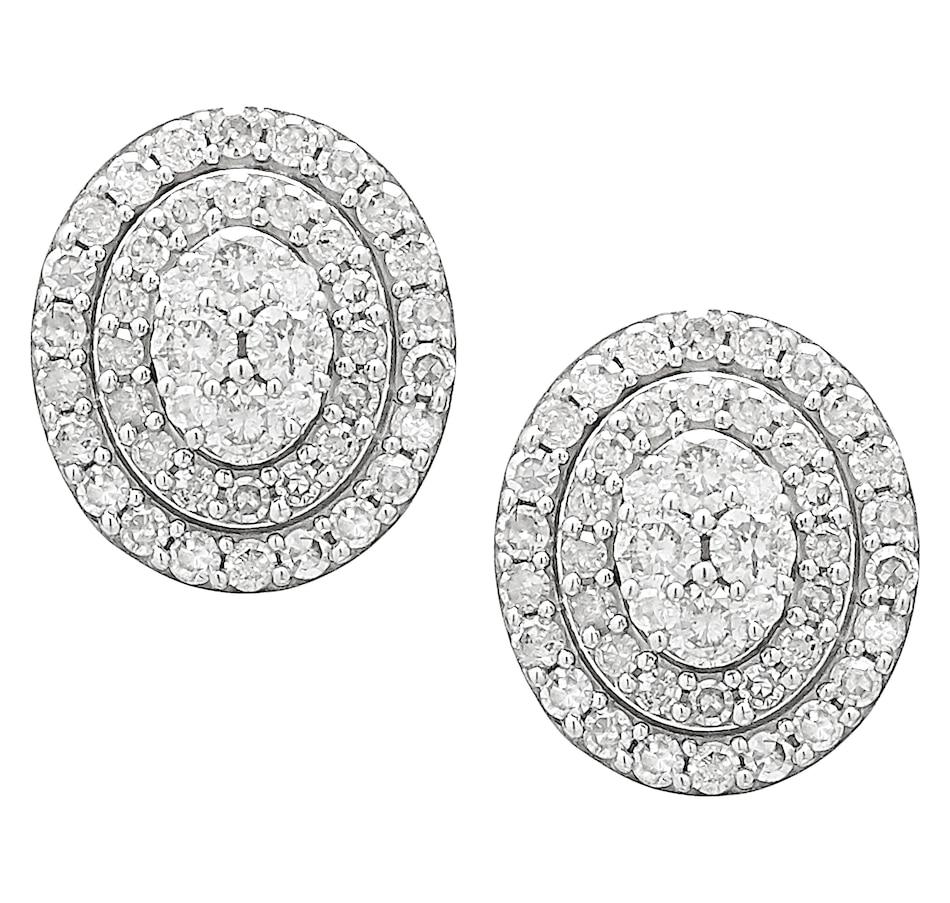 Image 218901_WGLOV.jpg , Product 218-901 / Price $1,499.99 , 14K Gold 1.00ctw Diamond Earrings from Diamond Show on TSC.ca's Jewellery department