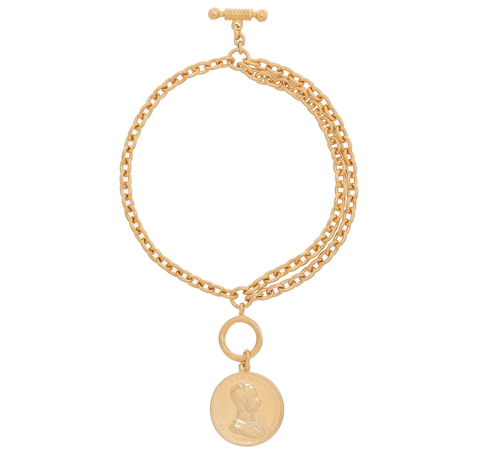 Image 233257.jpg , Product 233-257 / Price $99.99 , Ben-Amun Gold Triple Strand Coin Charm Bracelet from ben-amun on TSC.ca's Jewellery department