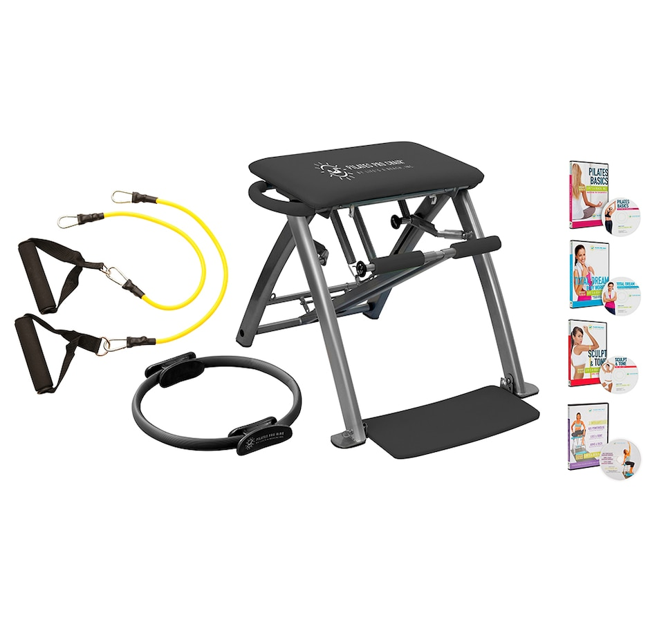 Image 246635_GRY.jpg , Product 246-635 / Price $279.99 , Pilates Pro Chair with Pro Ring and Resistance Bands from Pilates Pro Chair on TSC.ca's Health & Fitness department