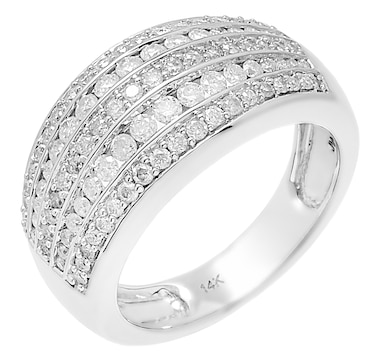 14K White Gold Mens 0.50ctw Diamond Ring