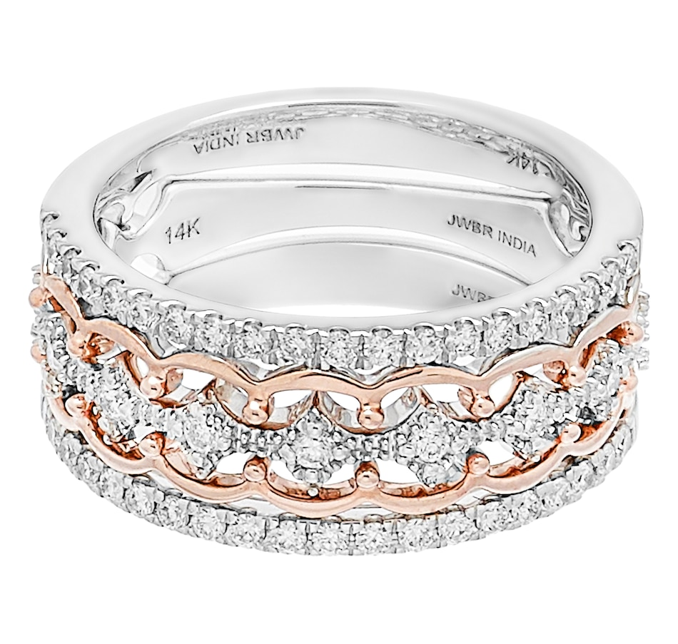 Image 247935_WGRG.jpg , Product 247-935 / Price $1,199.99 , 14K Two Tone 0.50ctw 3 Stack Diamond Ring from Diamond Show on TSC.ca's Jewellery department