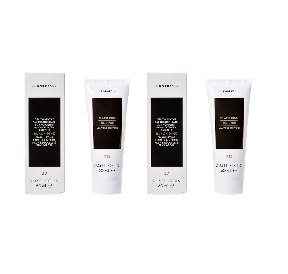 Image 249062.jpg , Product 249-062 / Price $90.00 , KORRES Black Pine 3d Neck & Decollete Tensing Gel Serum Duo from KORRES Natural Products on TSC.ca's Beauty & Health department