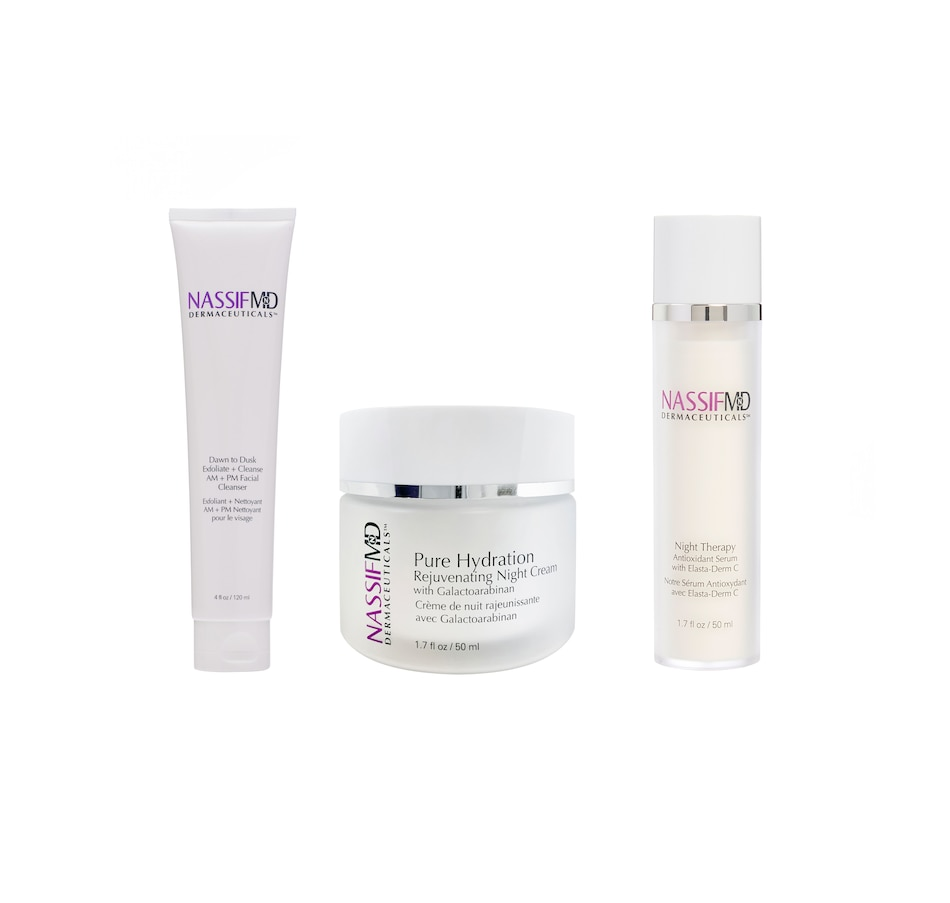 Image 249550.jpg , Product 249-550 / Price $99.00 - $180.00 , NassifMD® 3-Piece Nightly Regimen from NassifMD on TSC.ca's Beauty & Health department
