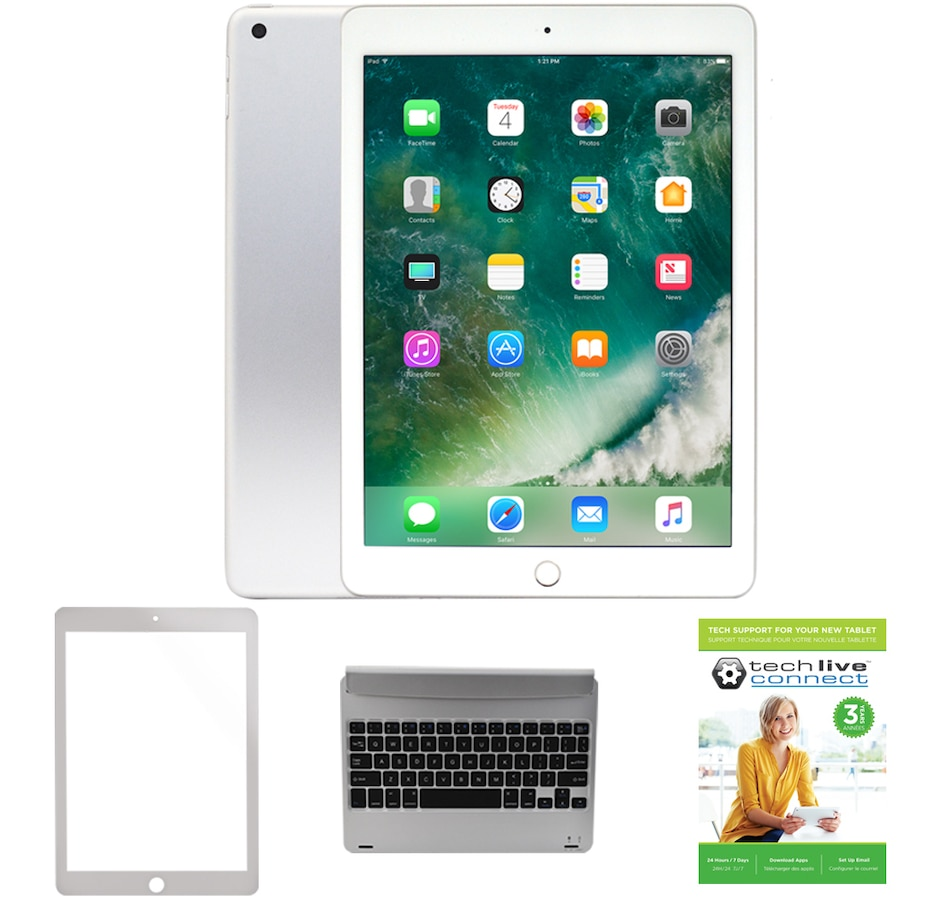 2018 Apple Ipad 97 32gb Wi Fi Tablet Bundle With Keyboard And 3 Year Tech Support
