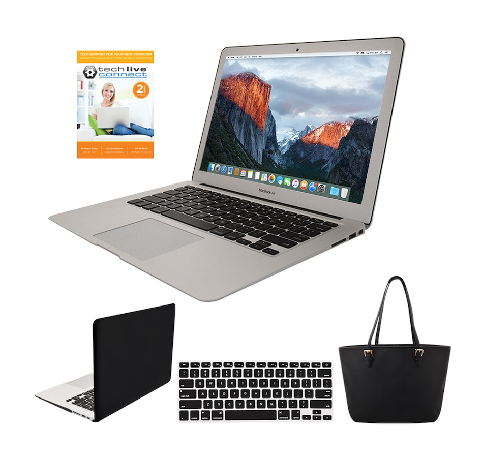 """Image 250912_BLATO.jpg , Product 250-912 / Price $1,599.99 , Apple MacBook Air 13.3"""" 2017 128GB Notebook with Intel Core i5, Hard Case Cover, Keyboard Cover, Bag and 2-Year Tech Support from Apple on TSC.ca's Electronics department"""