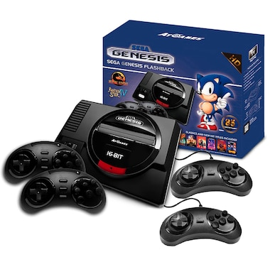 Sega Genesis Flashback Deluxe HD Console with 85 Games and 2 Bonus Wired Controllers