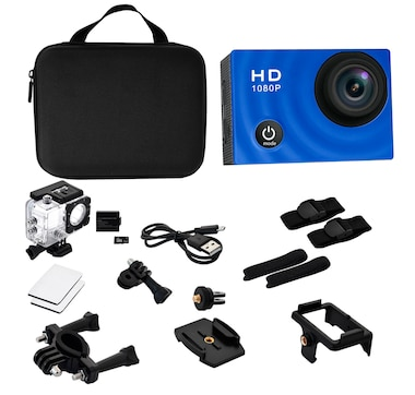 Pro Reel 1080p Action Camera with Case and Accessories