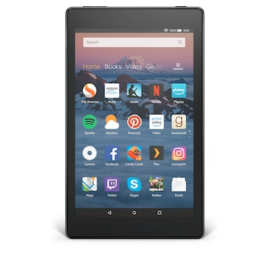 "New Amazon 8"" Fire HD Tablet with Family Essentials Pack and Custom Case Voucher"