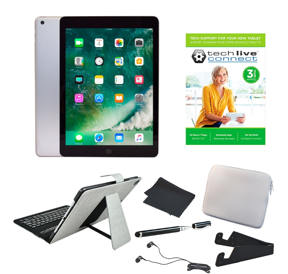 "Image 251130_GYS.jpg , Product 251-130 / Price $669.99 , 2018 Apple iPad 9.7"" 128GB Bundle with Folio Bluetooth Keyboard Case Sleeve, Accessories and 3-Year Tech Support from Apple on TSC.ca's Electronics department"