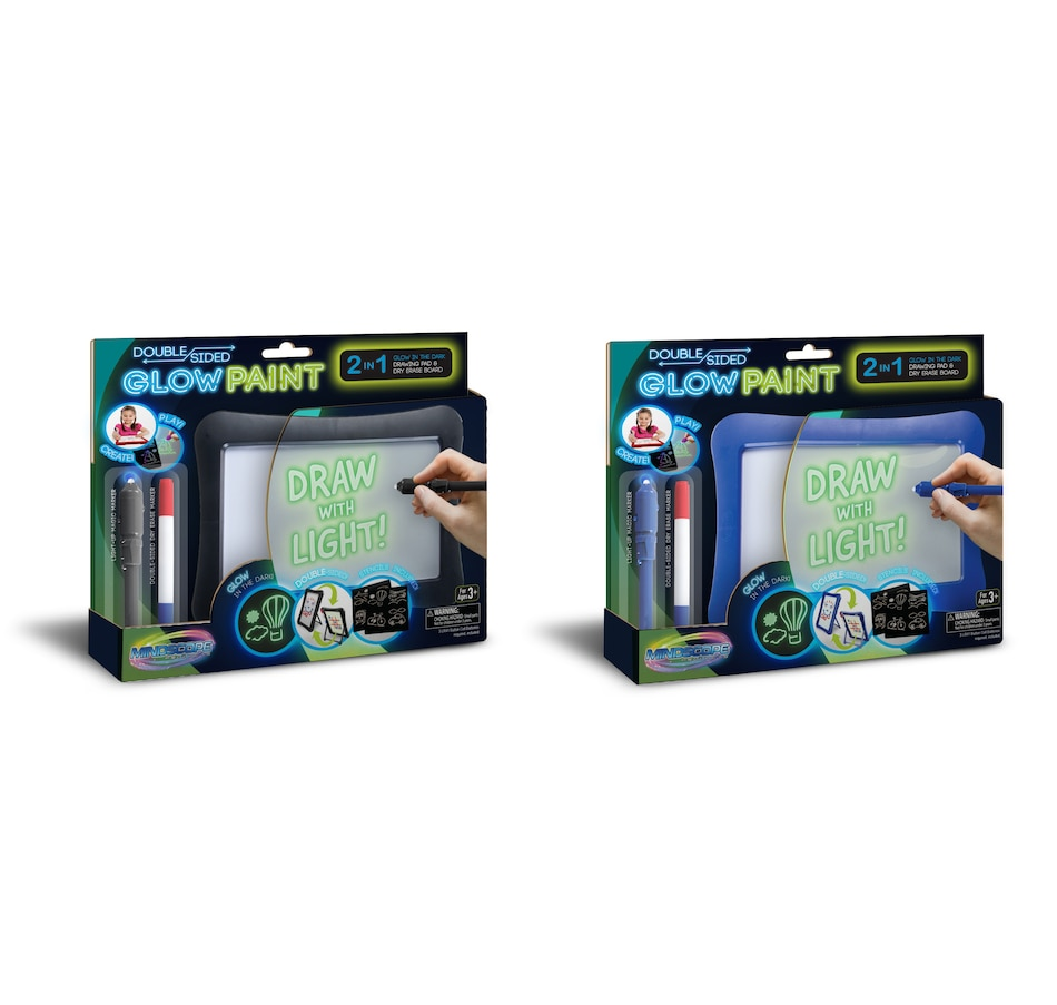 Image 251169_BBA.jpg , Product 251-169 / Price $39.99 , Mindscope Double-Sided Glow Paint (Set of 2)  on TSC.ca's Coins & Hobbies department